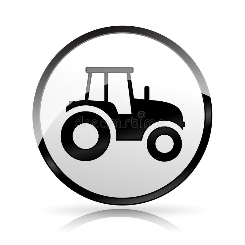 Tractor icon on white background vector illustration