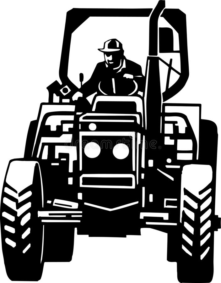 Tractor Illustration. An illustration of a tractor stock illustration