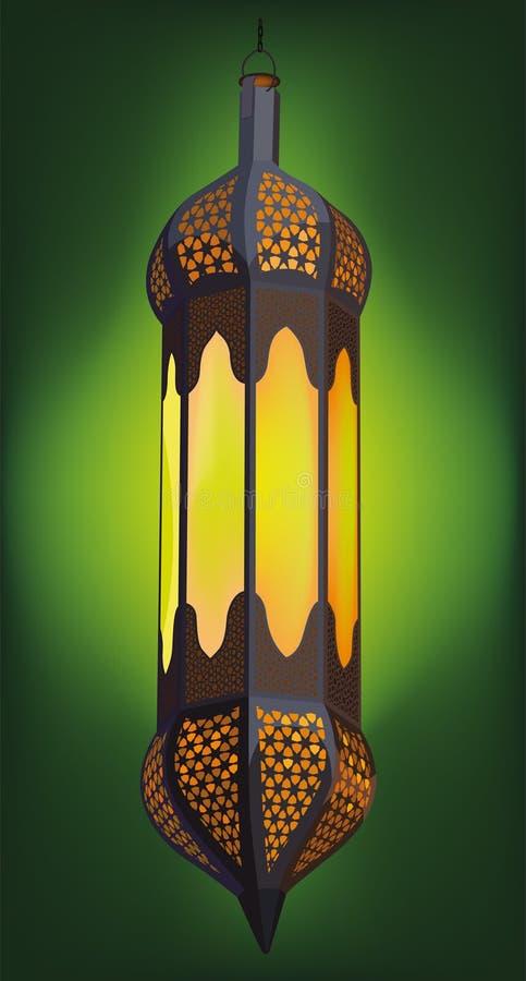 Illustration of Traditional Arabic Lantern stock illustration
