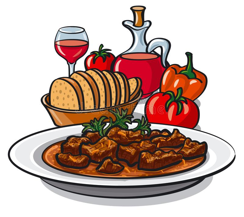 Food Plate Clip Art - Royalty Free - GoGraph
