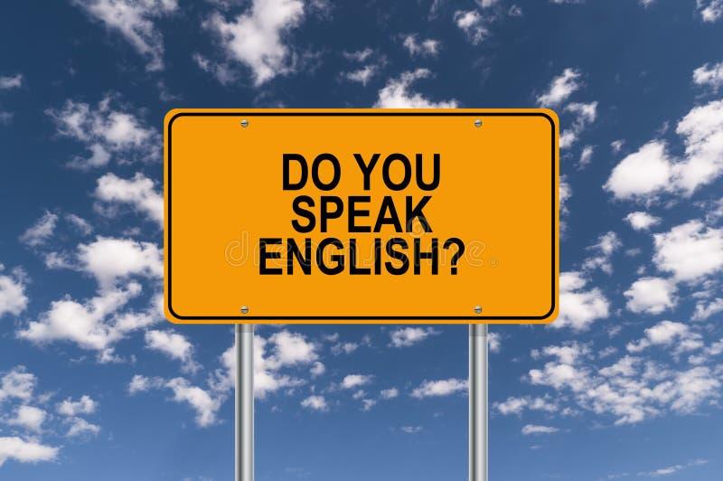 Do you speak english royalty free illustration