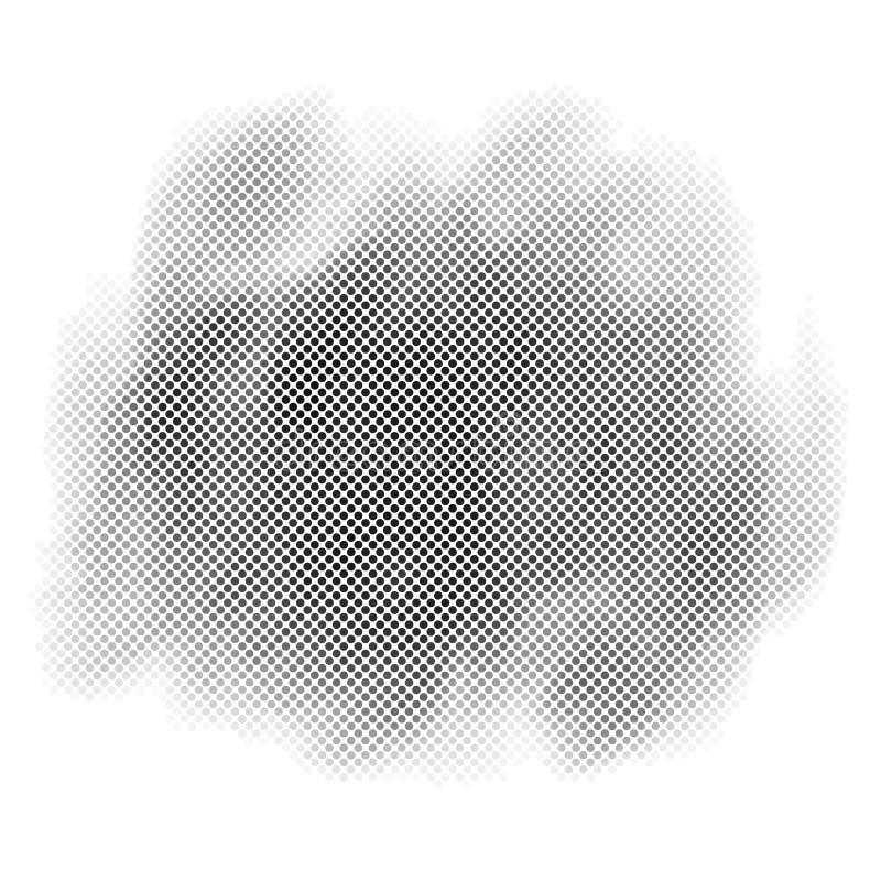 Illustration tramée de vecteur de conception de fond de point illustration stock