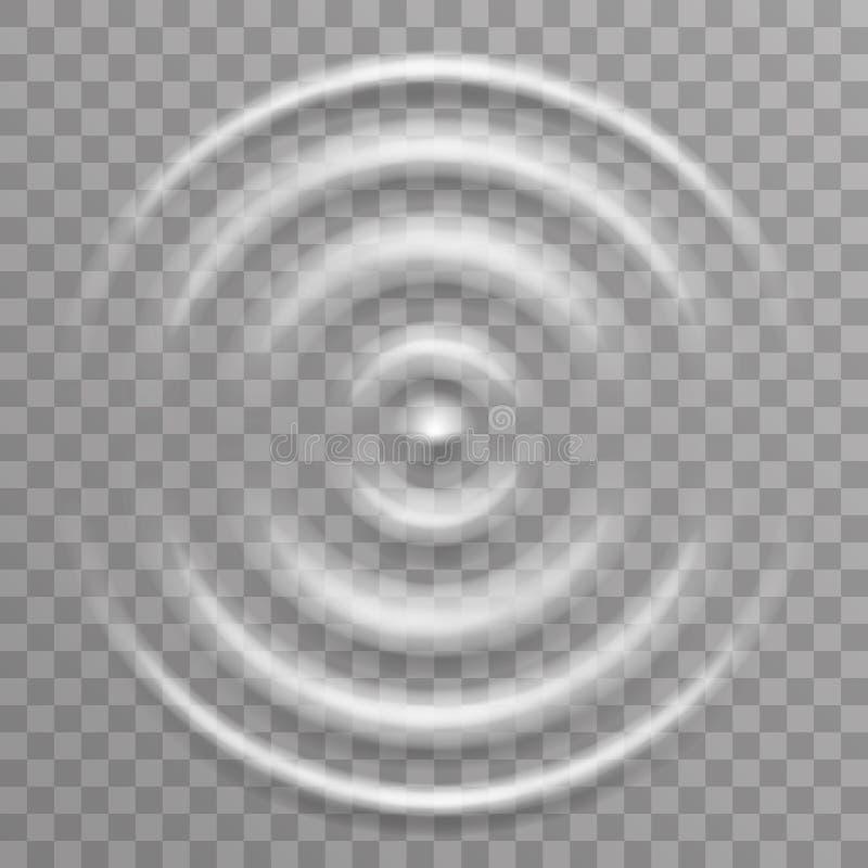 Illustration transparente de vecteur de fond de décoration de vagues d'ondulation d'éclaboussure de surface de l'eau illustration stock