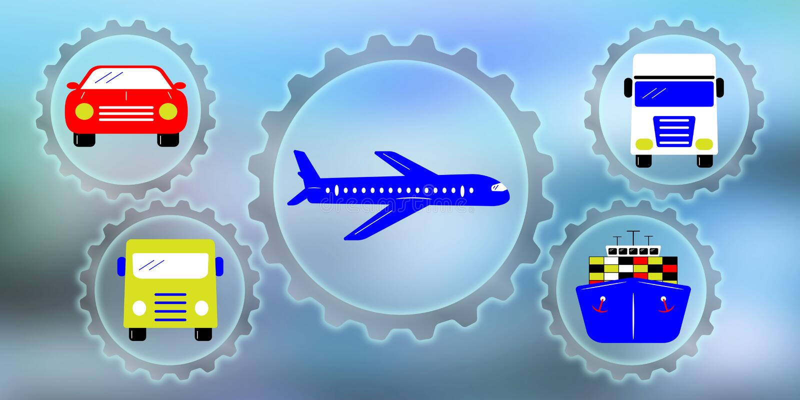 Concept of transportation stock illustration