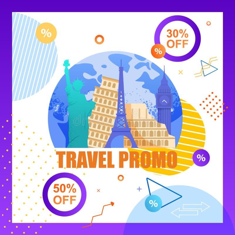 Illustration Travel Promo Organizing Tourist Trip vector illustration