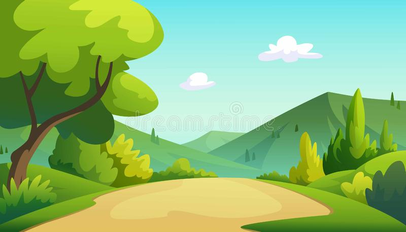 Illustration of a tree and graphic of jungle royalty free illustration