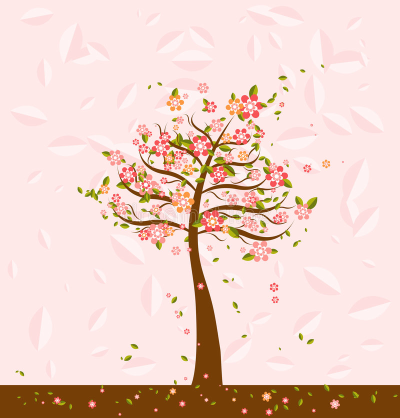 Download Illustration With Tree,vector Stock Photography - Image: 2323422
