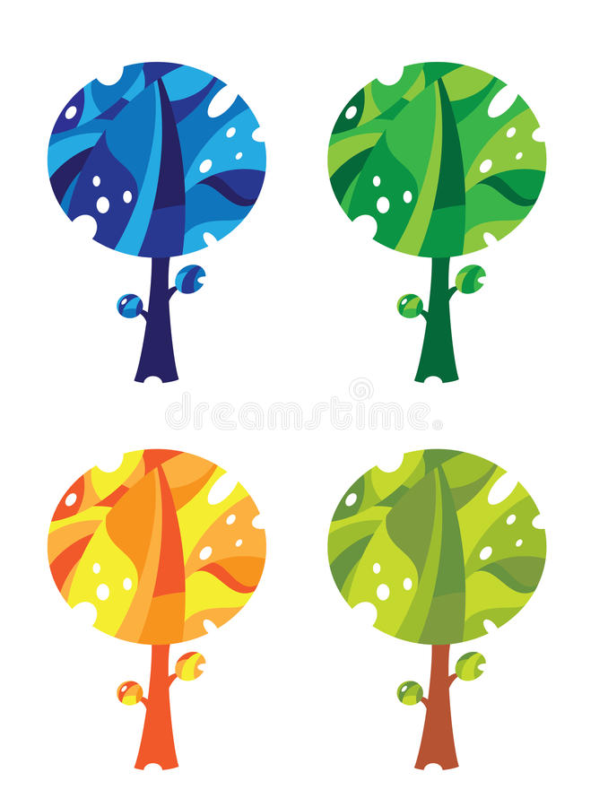 Download Trees set funny stock vector. Illustration of decorative - 30262144