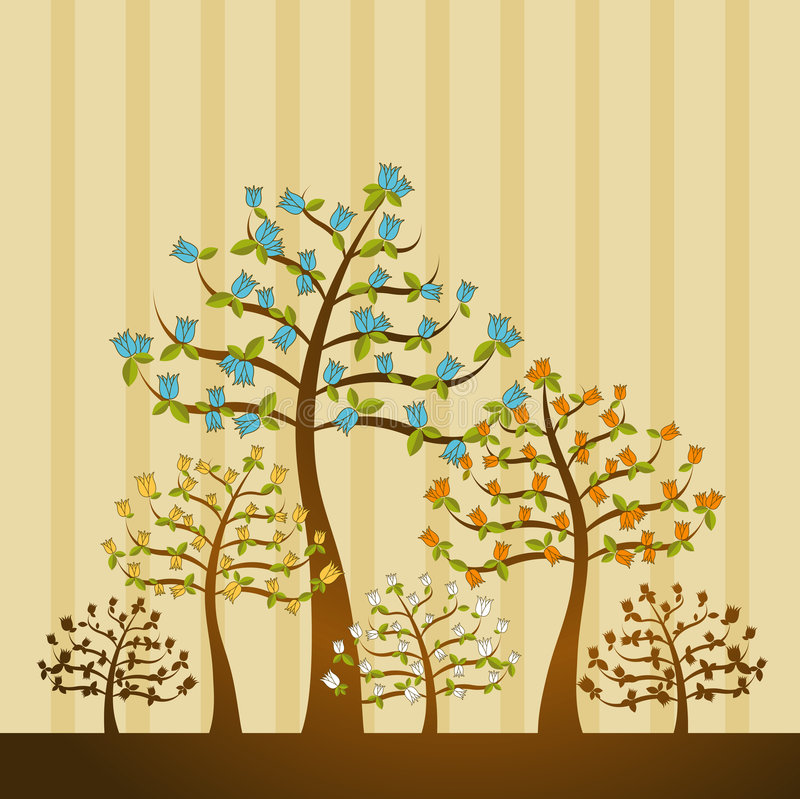 Download Illustration With Trees,vector Stock Vector - Image: 2304578