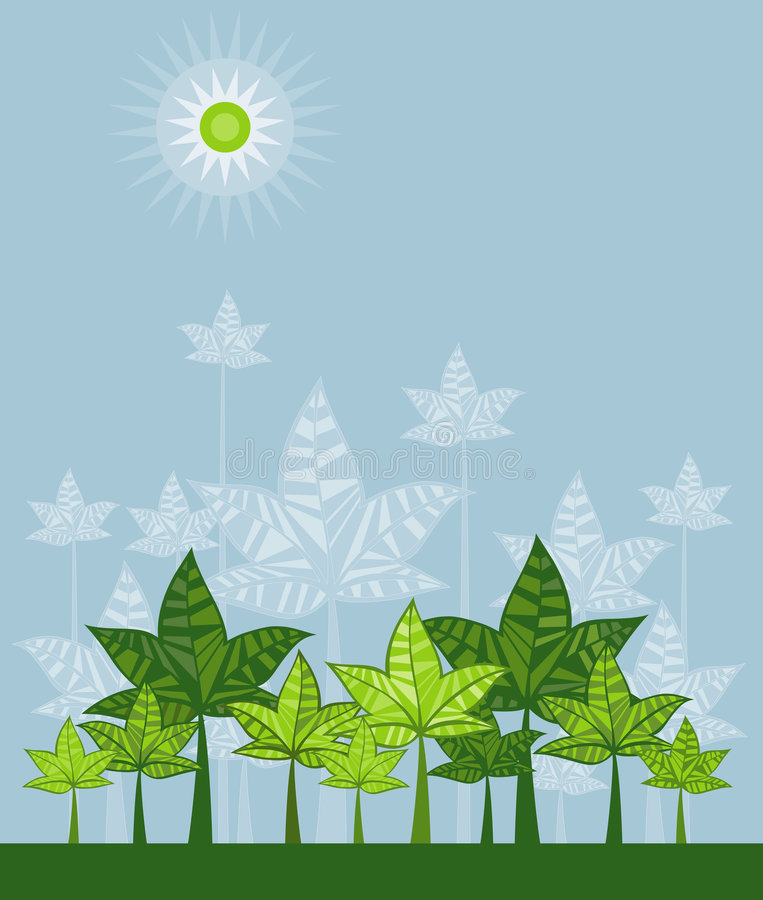 Download Illustration With Trees,vector Stock Photos - Image: 2317383