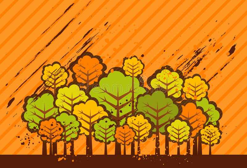 Download Illustration With Trees,vector Stock Vector - Image: 2323279