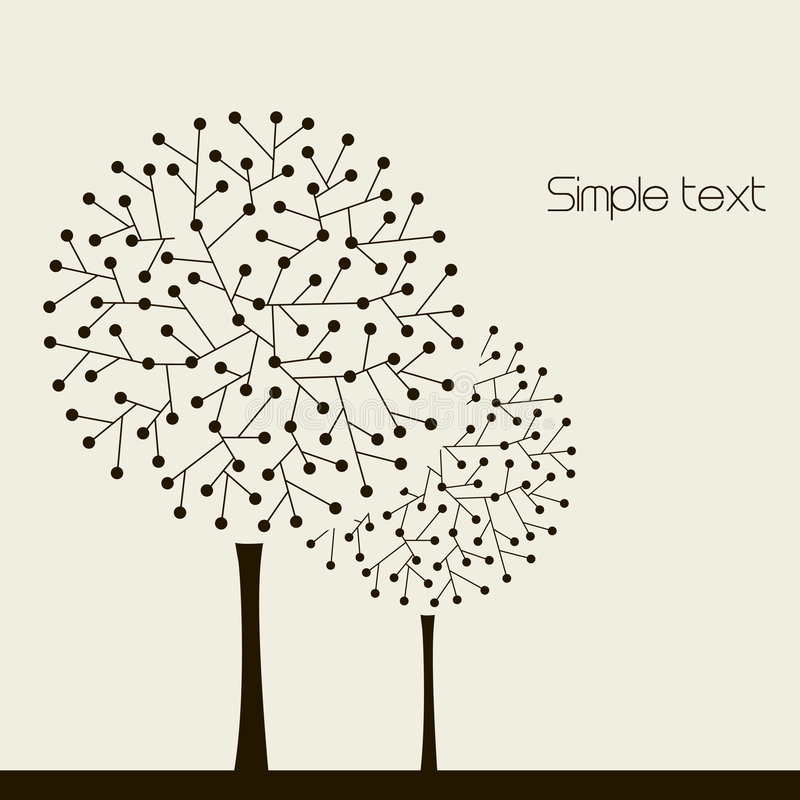 Download Illustration With Trees. Vector Stock Vector - Image: 8412161