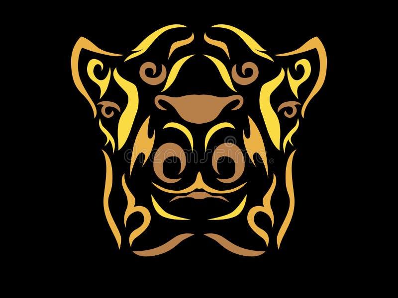Illustration tribale de chameau illustration de vecteur