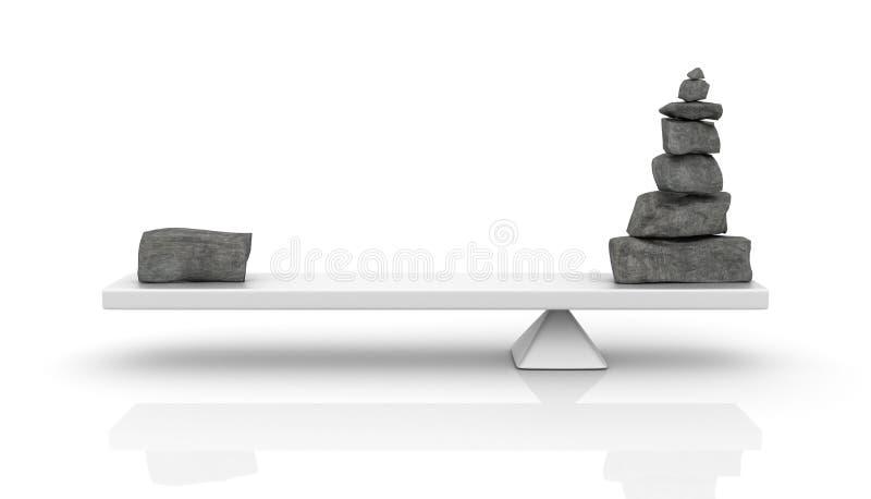 Équilibre de pierres illustration stock