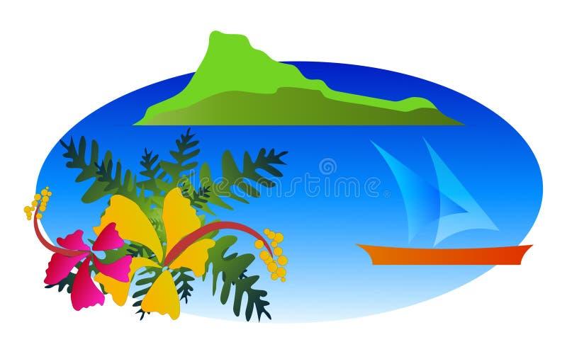 Illustration tropicale illustration de vecteur