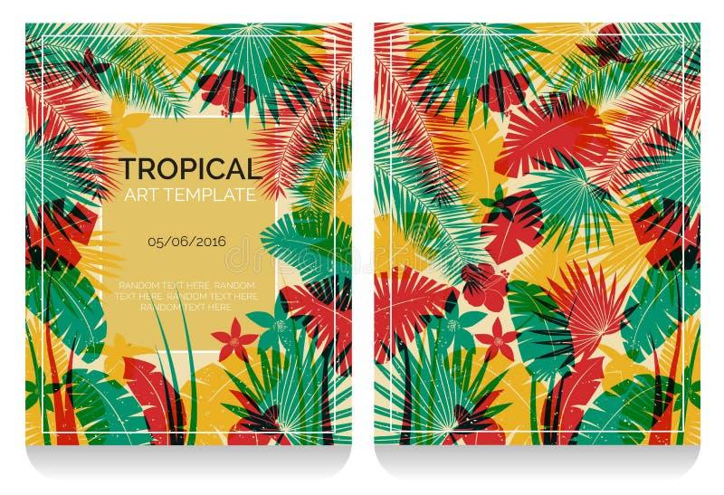 Illustration tropicale de jungle d'effet d'impression de compensation illustration libre de droits