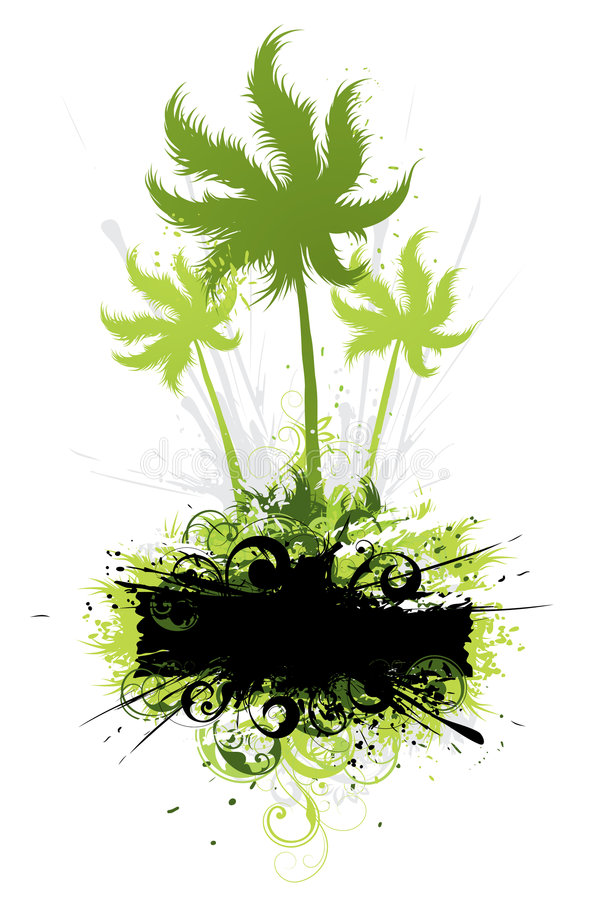 Illustration tropicale de végétation illustration de vecteur