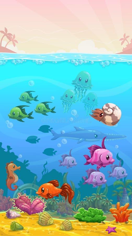 Illustration tropicale sous-marine illustration de vecteur