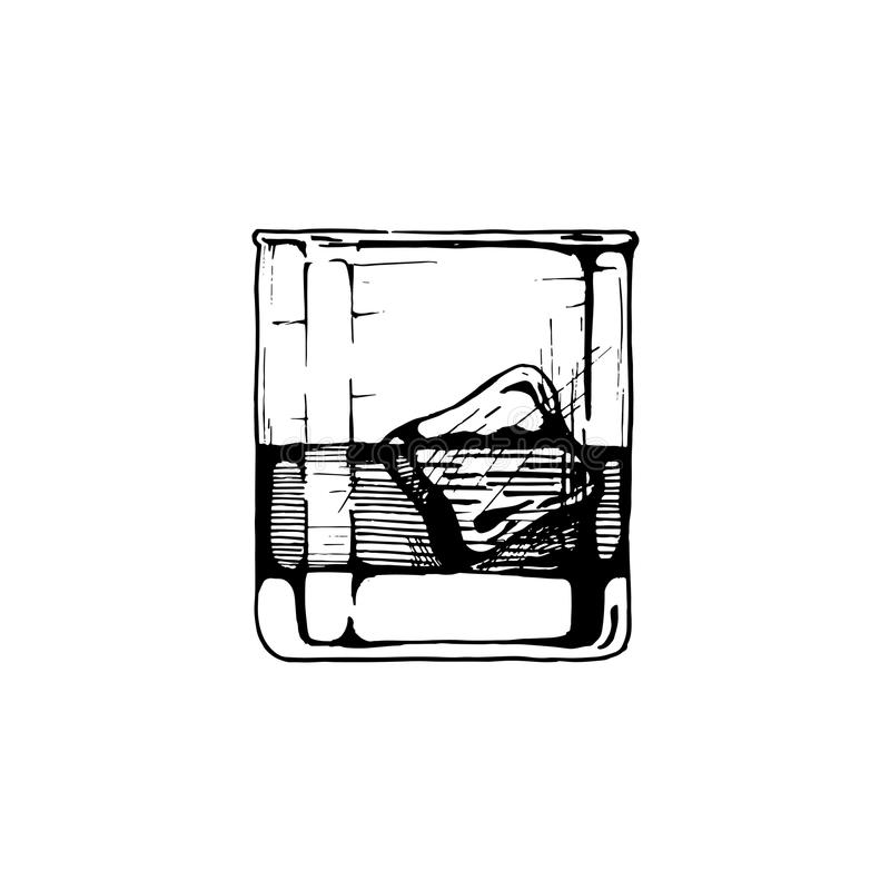 Illustration of tumbler glass royalty free illustration