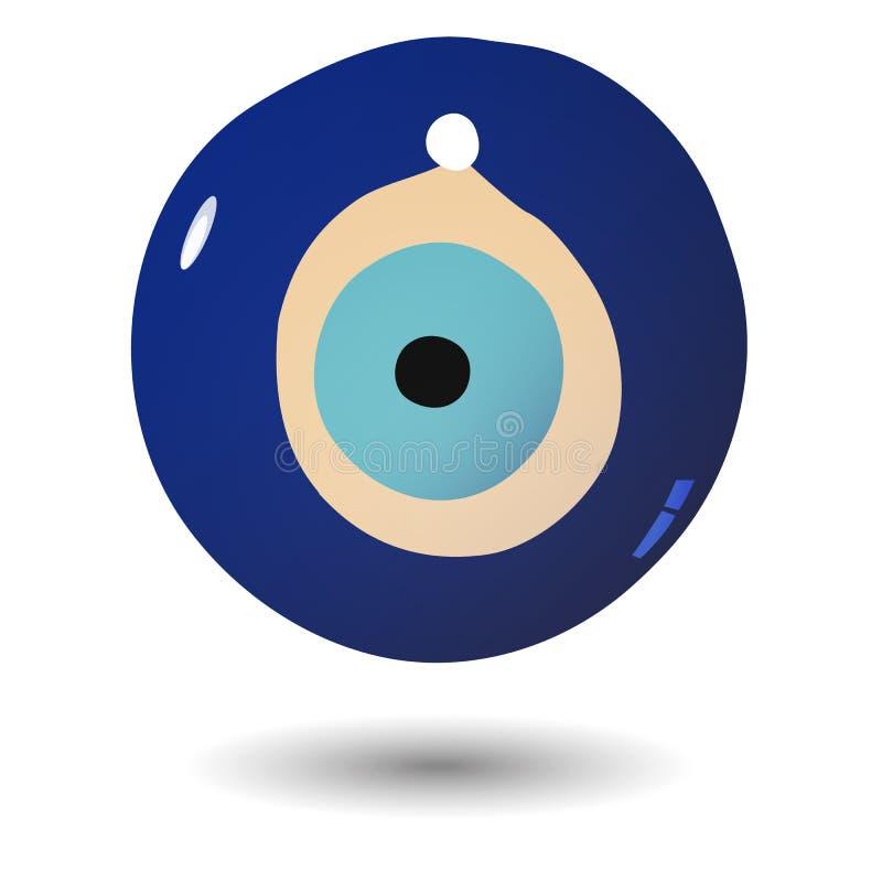 Illustration of Turkish evil eye bead. Vector illustration of Turkish evil eye bead royalty free illustration