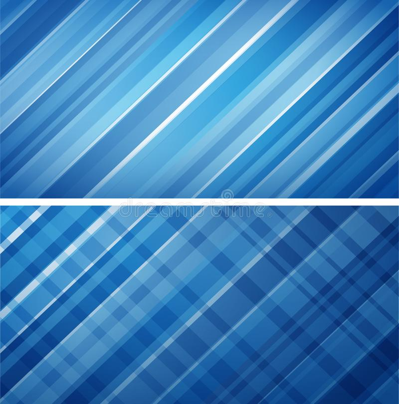 Two blue striped backgrounds concept. Illustration of two blue striped backgrounds concept royalty free illustration
