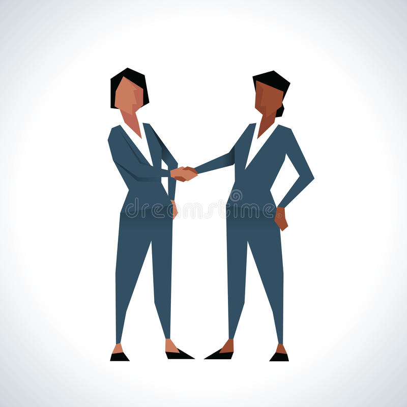 Download Illustration Of Two Businesswomen Shaking Hands Stock Illustration - Illustration of flat, business: 74557408