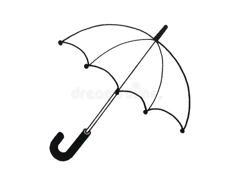 Illustration of an umbrella. Coloring book Illustration of an umbrella for children stock illustration