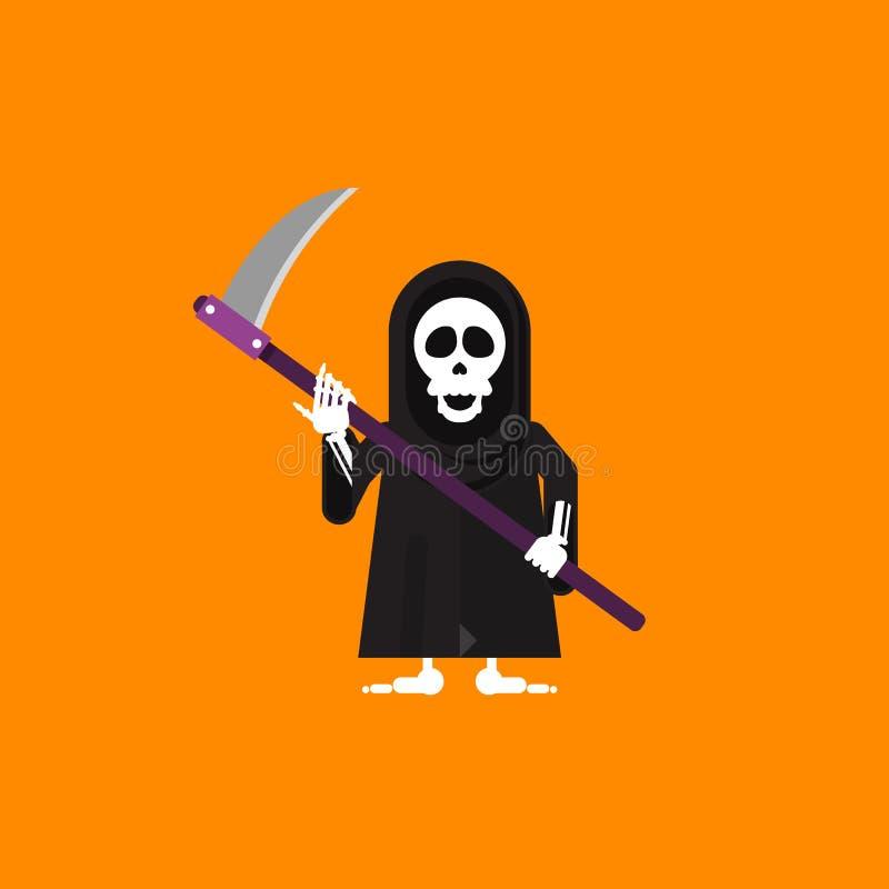 Download Illustration Un Caractère De Faucheuse Pour Halloween Dans Le Style Plat Illustration de Vecteur - Illustration du concept, caractère: 76082055