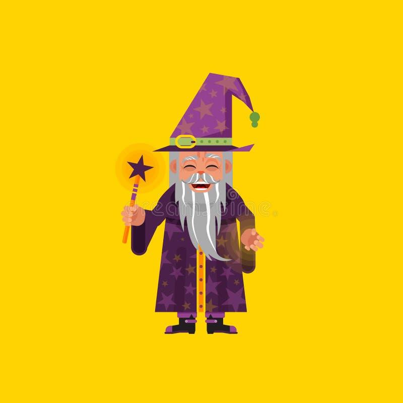 Download Illustration Un Caractère De Magicien Pour Halloween Dans Le Style Plat Illustration de Vecteur - Illustration du crainte, illustration: 76082129