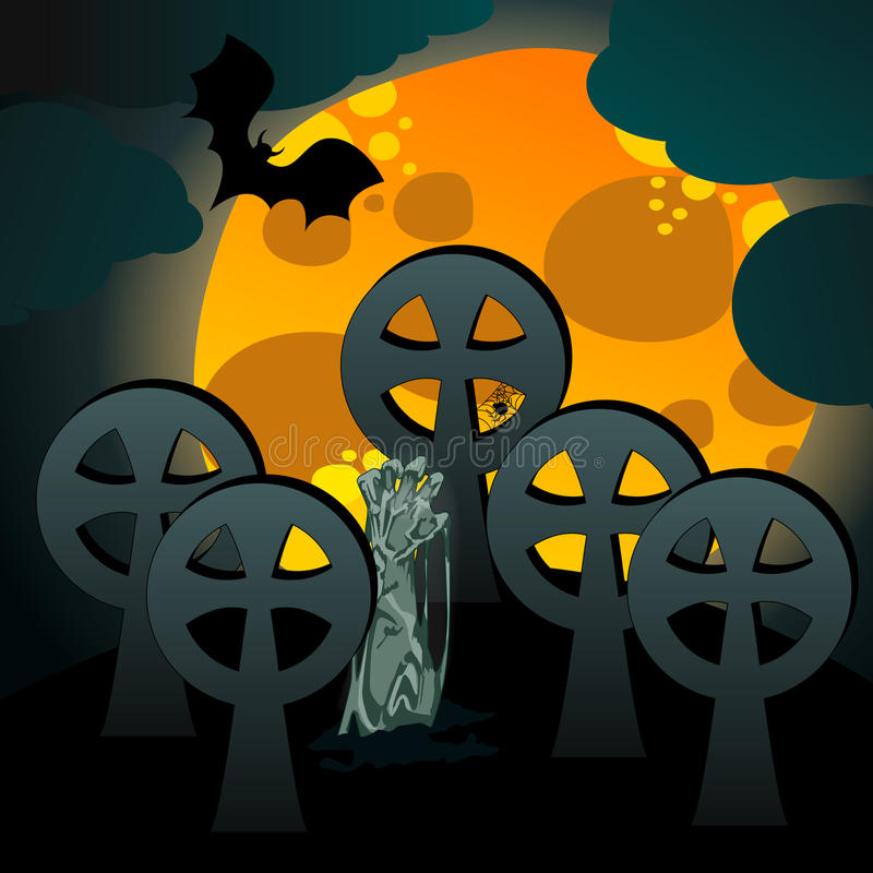 Download Illustration Of Undead Rising From The Grave Stock Vector - Illustration: 26910347