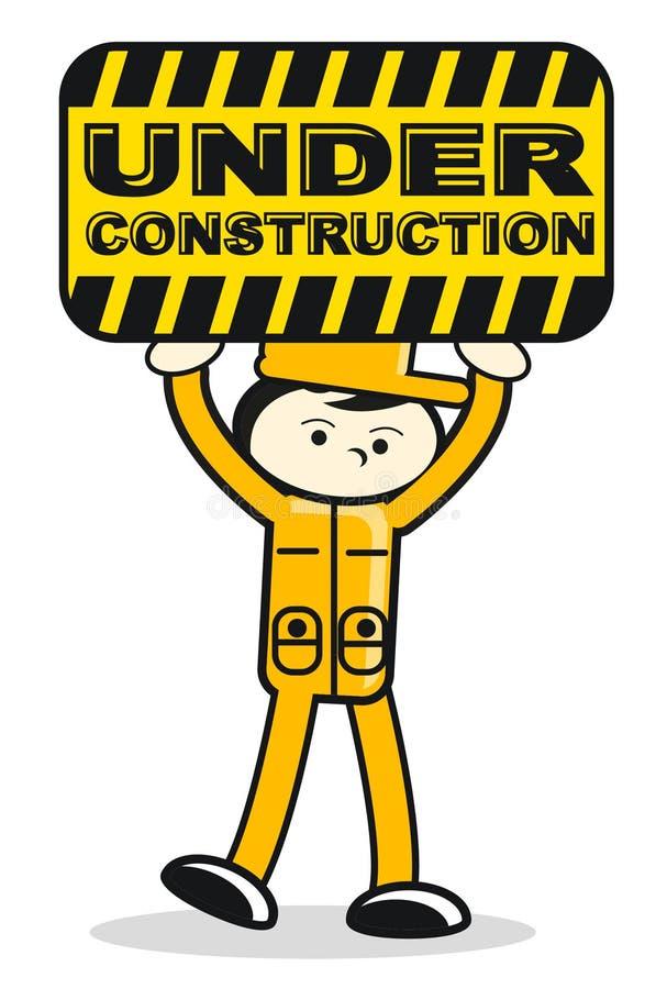 Illustration of under construction sign royalty free illustration