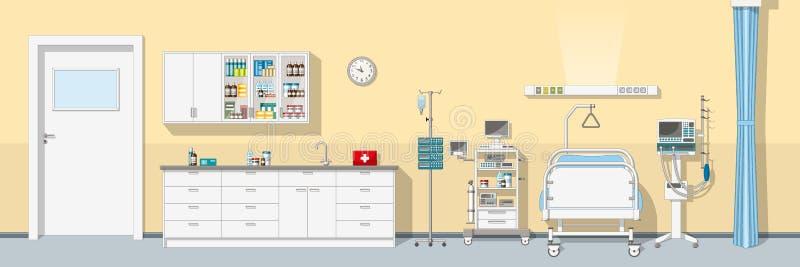 Illustration une unité de soins intensifs illustration de vecteur