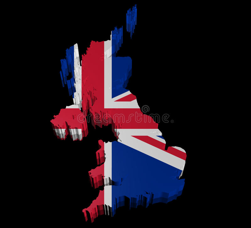 Illustration Of United Kingdom Of Great Britain Royalty Free Stock Photo