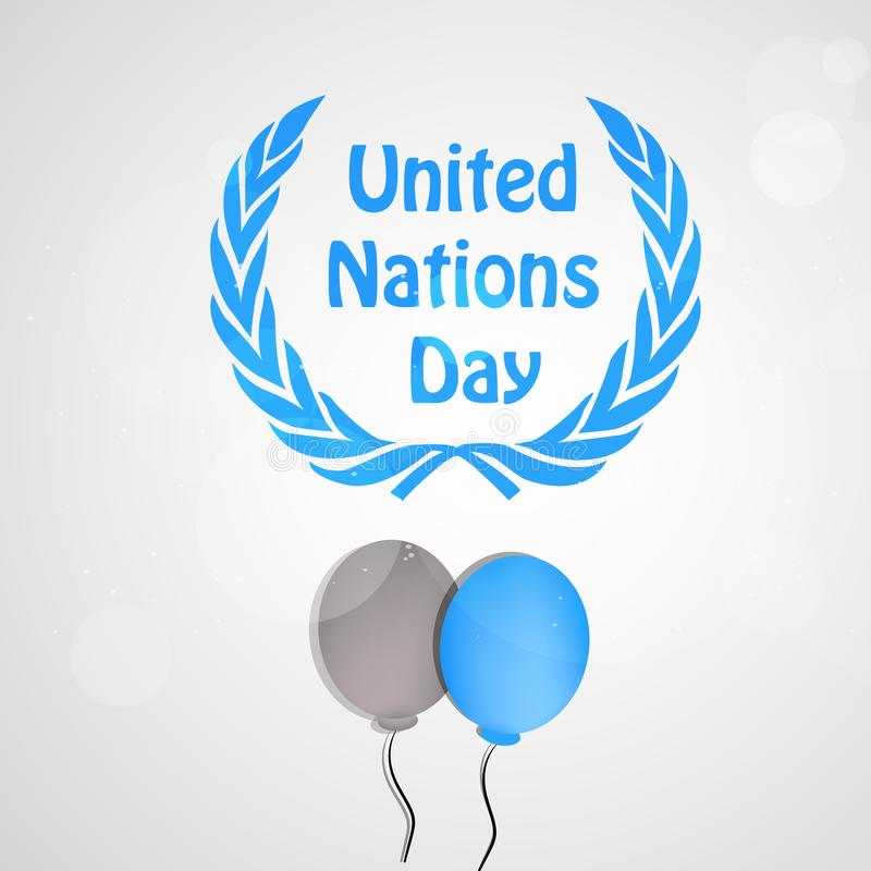 Illustration of United Nations Day Background vector illustration