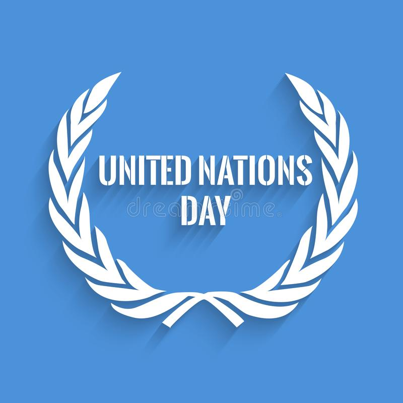Illustration of United Nations Day Background stock illustration