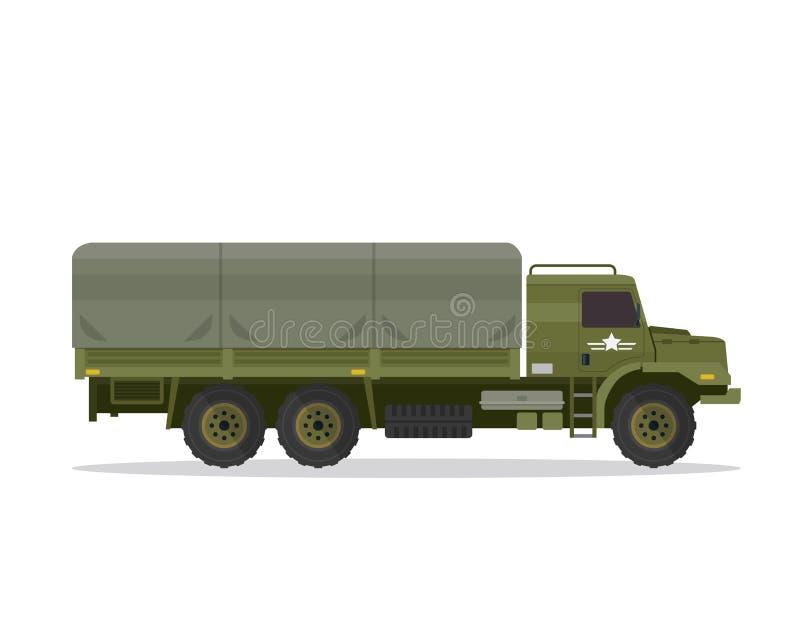 Illustration urbaine moderne de véhicule militaire illustration libre de droits