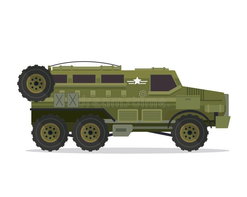 Illustration urbaine moderne de véhicule militaire illustration stock