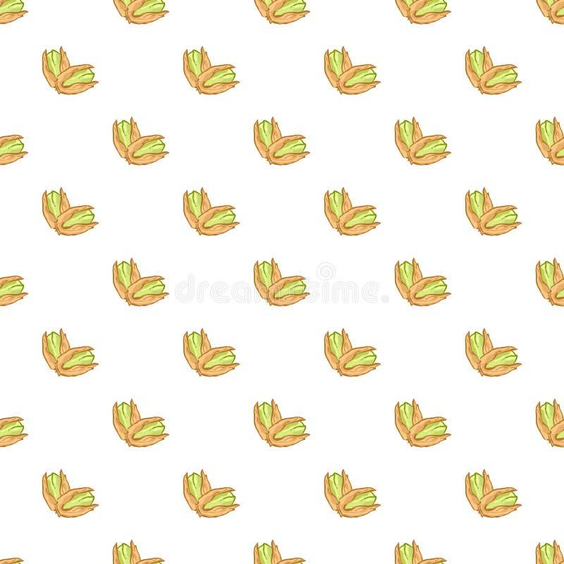 Illustration végétarienne organique d'apéritif de pistachionuts de modèle de texture de pistache de nutrition sans couture nuts d illustration libre de droits