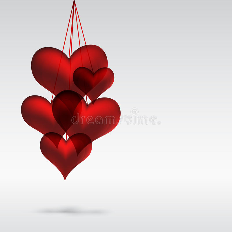 Illustration Of Valentine Hearts Royalty Free Stock Image