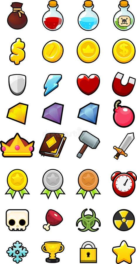 RPG Game Icon Pack vector illustration