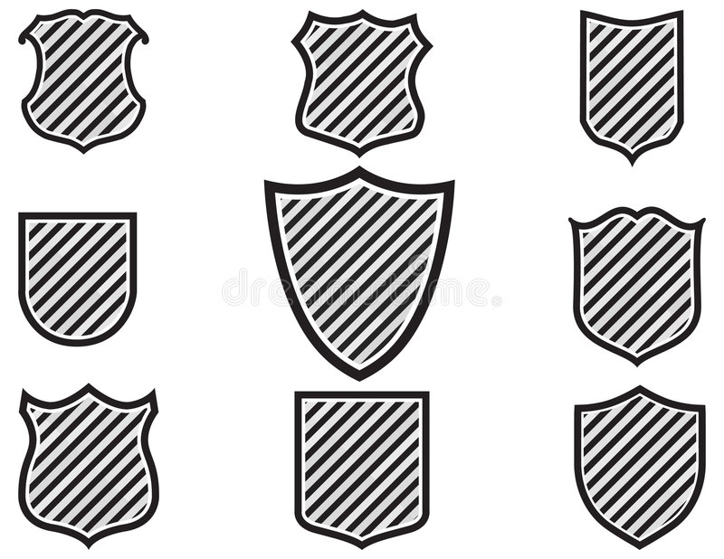 Illustration Of Various Shield Shapes Stock Vector - Illustration of ...