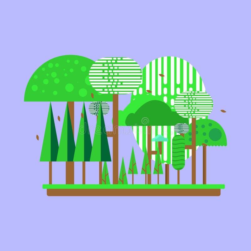 Illustration of vector-based tropical rainforest vector illustration