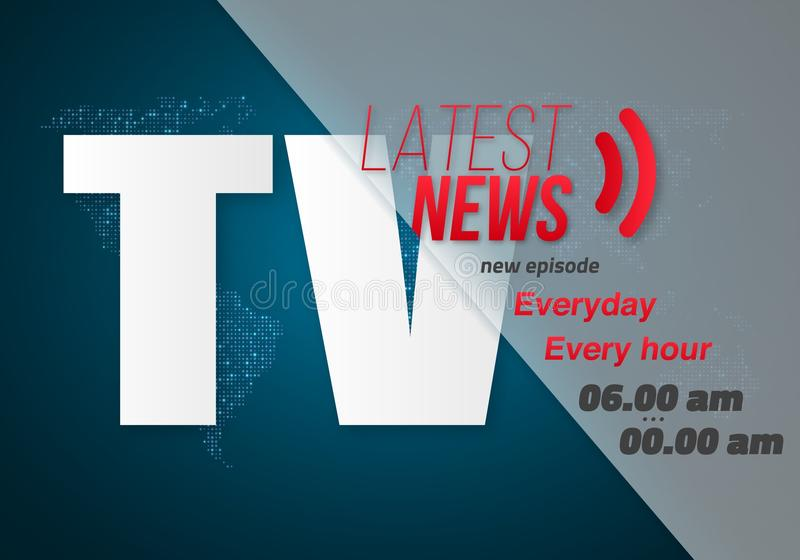 Vector Breaking News Banner Broadcast News Design News Report
