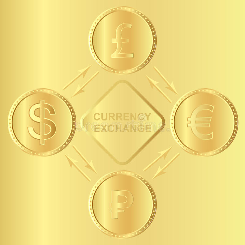 Illustration vector. coins for currency exchange rates vector illustration
