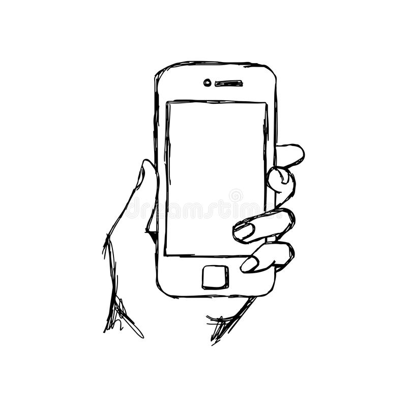 Illustration Vector Doodle Hand Drawn Sketch Of Human Hand ...