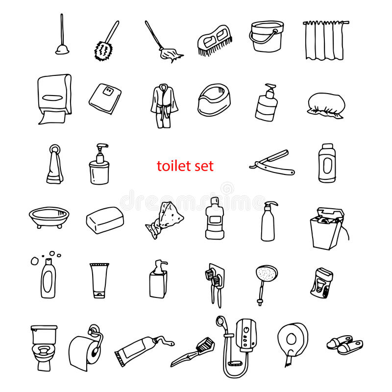 Illustration Vector Hand Drawn Doodles Of Objects In