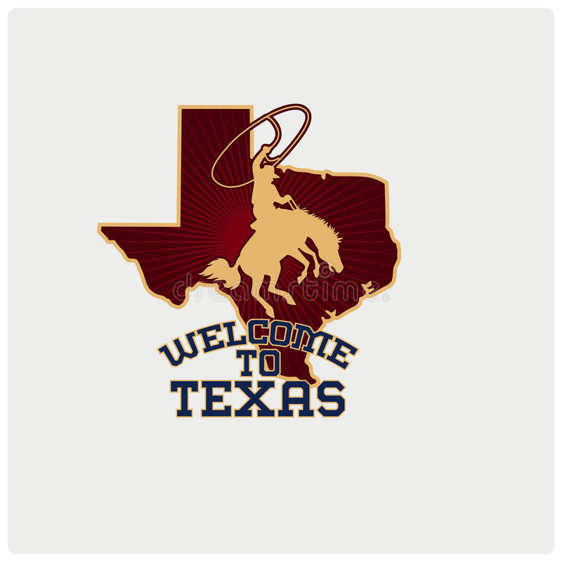 Illustration vector of logo texas country royalty free stock photo