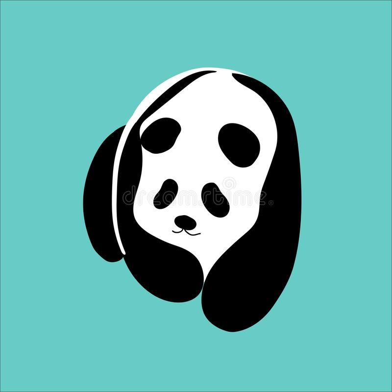 Lovely vector panda. Illustration vector of a lovely and cute panda stock illustration