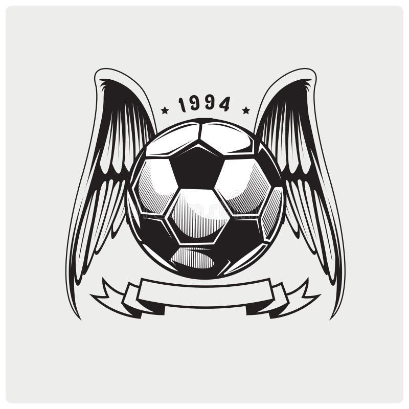Illustration vector of soccer ball royalty free illustration