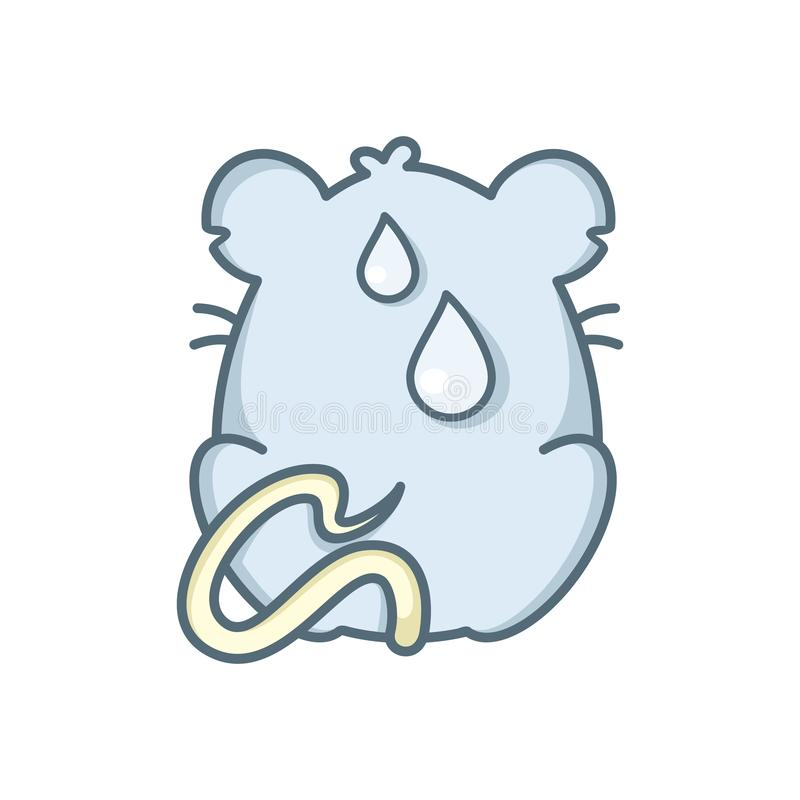 Illustration vectorielle du rat cartoon. rat assis devant illustration stock